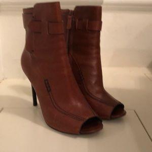 High heel open toe bootie